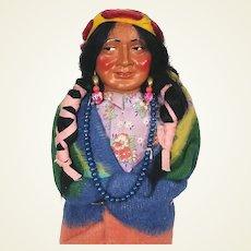 Vintage composition Skookum Indian Squaw Doll