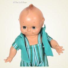 Cameo painted hard plastic Kewpie doll 1950's