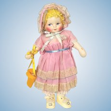 Georgene Averill all cloth Easter Bo Peep doll from the 1920's