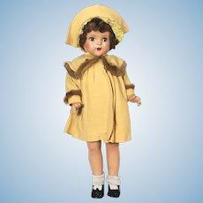 Madame Alexander Composition Princess Elizabeth doll in coat and dress