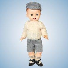 English hard plastic boy doll by Pedigree 1950's.