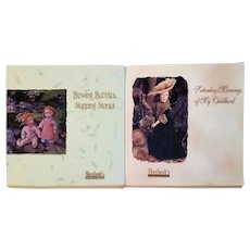 Saturday Mornings of My Childhood and Blowing Bubbles Skipping Stones Theriaults Doll Auction Catalogs by Florence Theriault