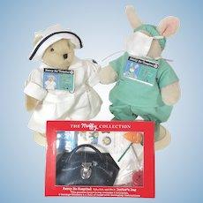 "Muffy Vanderbear Hoppy ""Mercy Me Hospital"" Doctor Nurse with Bag"