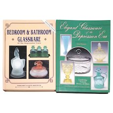 Bedroom and Bathroom Glassware of the Depression Years by Margaret and Kenn Whitmyer and Elegant Glassware of the Depression Era by Gene Florence
