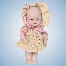 German All Bisque baby doll