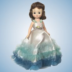 American Character Betsy McCall Doll in second year Blue Cotillion outfit from 1958