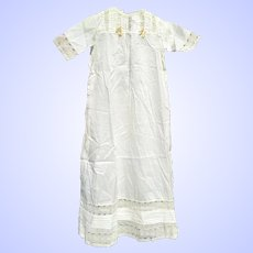 Antique Doll Christening gown or long full Dress