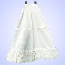 Antique Doll Full Slip or Petticoat