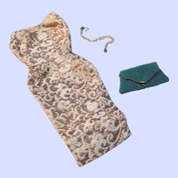 Barbie Evening Splendor Dress and Bag From Outfit #961 1959-64 By Mattel