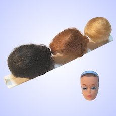 Barbie Fashion Queen Wigs, Wig Block and Head from 1962 Mattel