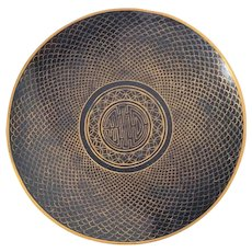 Japanese Cloisonne Fish or Dragon Scale plate