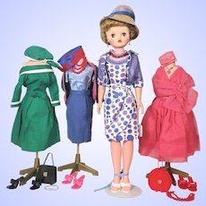 Deluxe Reading Candy Fashion Doll 1950's With Extra Outfits