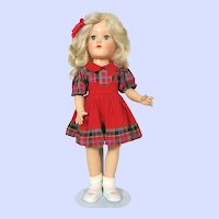 Ideal P90 Blonde Toni Hard Plastic P-90 Doll In School Girl Outfit