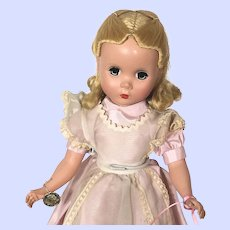 "Alexander 14"" Hard Plastic Maggie Faced Alice In Wonderland Doll"