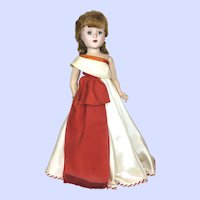 American Character Sweet Sue Walker Doll  In Mardi Gras Dress 1950's
