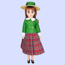 Madame Alexander Maggie Doll Plaid Skirt From 1970's