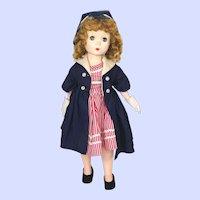 Madame Alexander 1950's Hard Plastic Maggie Walker Doll