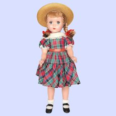 Madame Alexander Hard Plastic Maggie Faced Polly Pigtails Doll