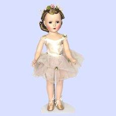 Madame Alexander Hard Plastic Margaret Ballerina Doll From 1950's