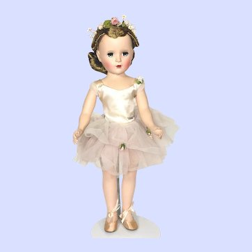 Madame Alexander Hard Plastic Margaret Ballerina Doll From 1950's