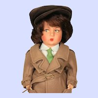 Lenci Nanni Italian Wool Limited Edition Felt Boy Doll from 1983