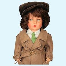 Lenci Nanni Italian Wool Limited Edition Felt Boy Doll from 1983
