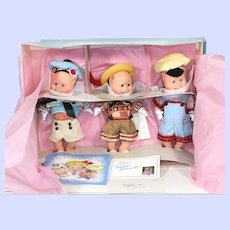 Madame Alexander Three Little Pigs Vinyl Dolls MIB