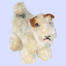 Steiff Foxy Wire Haired Terrier 1308,00 From The 1960's