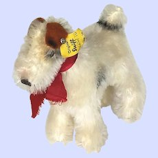 Steiff Foxy Wire Haired Terrier 4220 / 10 From The 1970's
