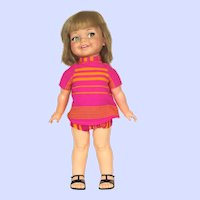 Working Ideal Giggles Doll 1966