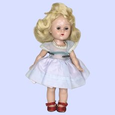 Vogue Hard Plastic Ginny 1955 SLW Doll With Tagged Ginger Dress