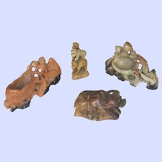 Soapstone  or Soft Stone Oriental Carvings