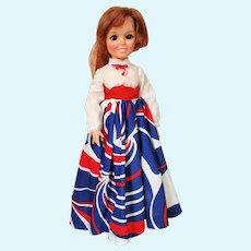 Ideal Grow Hair Crissy Doll In Long Dress