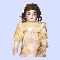 Early Kestner 129 Character Faced Bisque Head Doll
