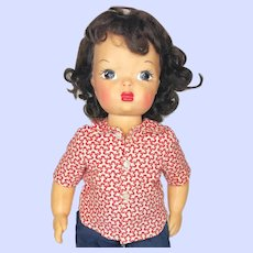 Vintage 1950's Terri Lee Hard Plastic Doll In Tagged Shorts Outfit.