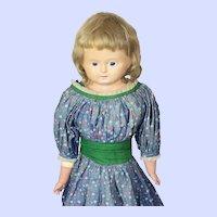 German Wax Over Paper Mache Antique Doll