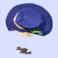 Vintage Hat And Script Pin For 1950's Shirley Temple