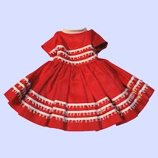 Vintage Dress #9503 For A 1950's 12 Inch Ideal Shirley Temple