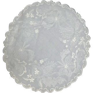 Large Table Embroidered Centerpiece Doily