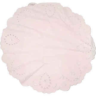 Large Embroidered Table Centerpiece Doily