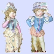 Victorian Heubach Romeo And Juliet Porcelain Bisque Figurine