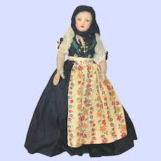 Vintage French Souvenir Doll From Au Nain Bleu Corsica (Corse)