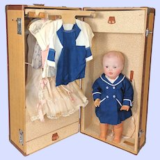 Vintage Louis Vuitton Trunk,  Doll Case with tagged Clothes And Doll