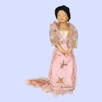 Antique Philippines Ethnic Bisque Doll Made In Germany