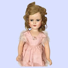 Composition Madame Alexander Sonja Henie Doll In Pink Marabou Outfit