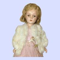 Vintage Arranbee (R&B) Nancy Lee Doll Wearing Fur Coat