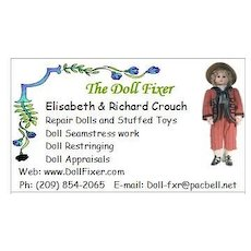 Doll fixer business card