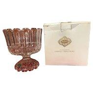 Vintage -Shannon- 24% Lead Crystal -Trifle Bowl - Godinger Silver-Slovakia #4632