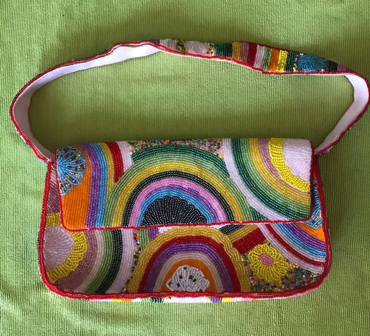 780b1fb699 Vintage 80 s Designer Comeco Beaded Purse   Rescued Rarities
