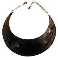 Very Rare & Brilliant Giant Buffalo Horn Runway Collar/Choker Necklace - Statement Piece!